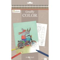 Avenue Mandarine Coloring Book - Small cars theme
