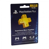 PSN PlayStation Plus 1 Year Membership Card (US)