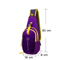 Tanluhu Cross Body Chest hiking Bag (สีม่วง)
