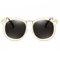 JACKAL SUNGLASSES JSL017 Black Lens Gold Frame