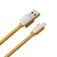 Remax สายชาร์จ iPhone Lightning Cable Double Side USB - สีทอง
