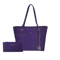 Shopping Bag + Plano Wallet ( Purple )